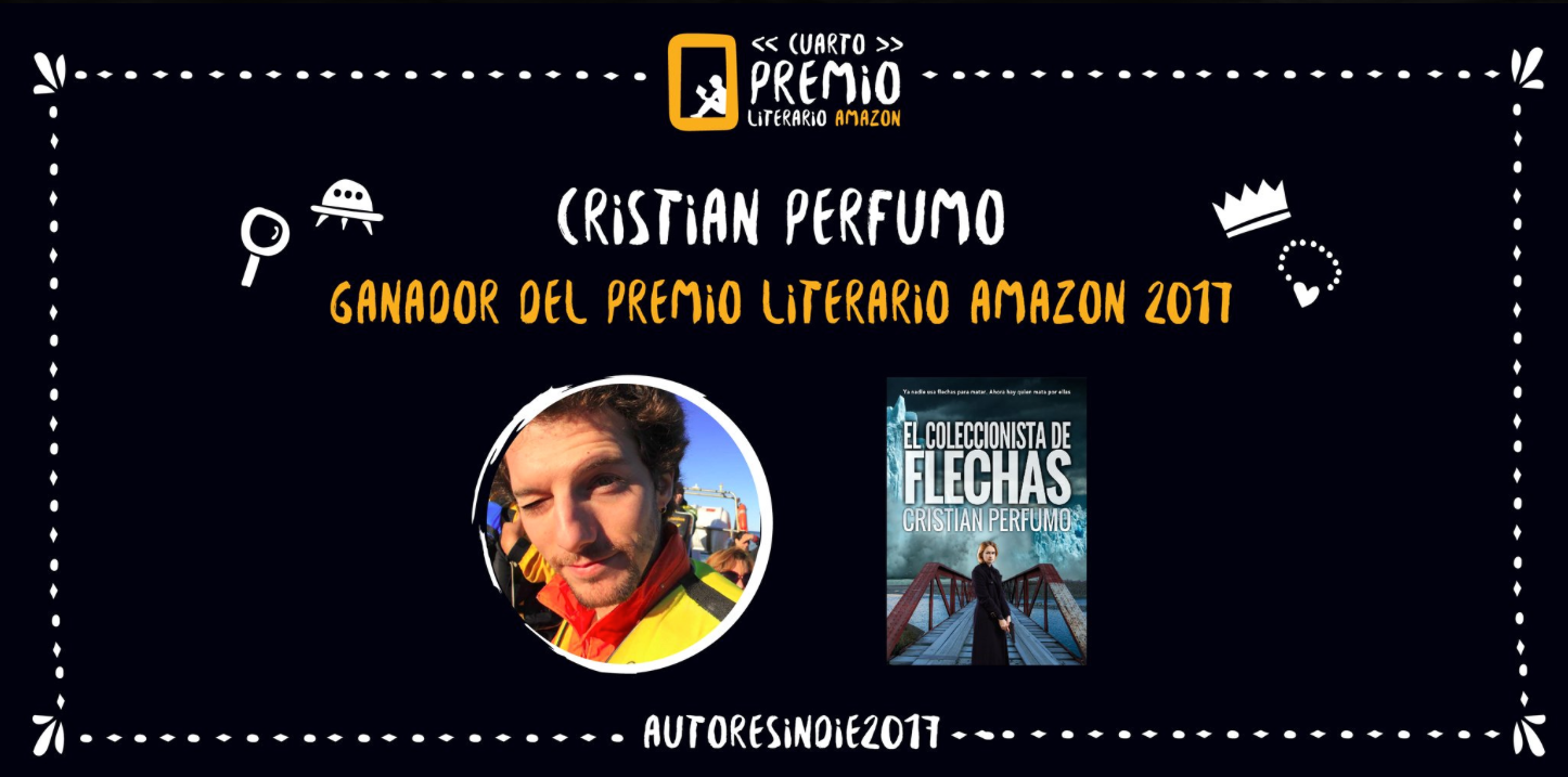 El autor argentino Cristian Perfumo, con su thriller El coleccionista de  huesos, ha sido el ganador del Cuarto Premio Literario Amazon de autores  indie.